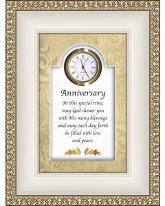 Anniversary - Proverbs Tabletop Christian Clock