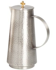 Antique Silver Church Flagon with Hammered Finish