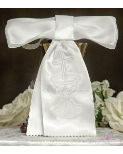 Boys Satin First Communion Armband with Chalice