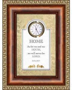 As for Me and My House Tabletop Christian Clock
