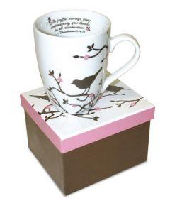 Bird Thessalonians Christian Coffee Mug Gift Boxed