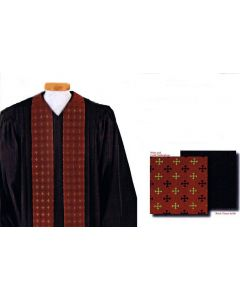 Custom Tailored Pulpit Robe with Nottingham Cross Panels
