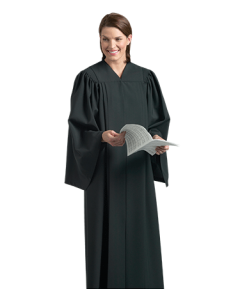 Black Choir Robe with Open Sleeves