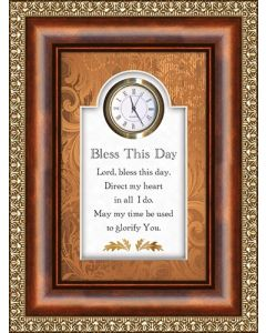 Bless This Day Tabletop Christian Clock