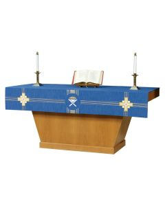 Blue Advent Altar Frontal Kingdom Cross Series