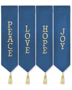 Advent Wreath Banner Set with Gold Thread