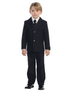Boys First Communion Tuxedo Suit with Satin Contrast
