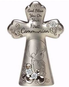 Boys Precious Moments First Communion Cross Figurine