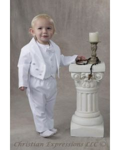 Boys Cotton Christening Tuxedo Suit