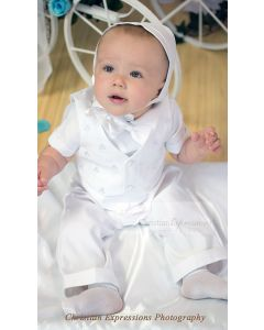 Irish Christening Outfit - Boys Shamrock Baptism Suit
