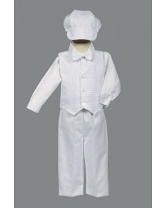 Boys Cotton Weaved Baptism Suit Style Nathan