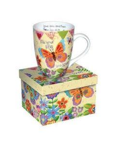 Butterfly Ephesians Christian Coffee Mug Gift Boxed