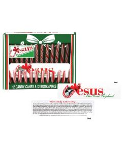 Scripture Candy Canes with Jesus Bookmarks
