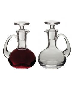 Glass Cruets Pair 6 oz. bottles, Ht. 5 5/8""