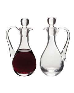 Glass Cruets Pair 9 oz. bottles, Ht. 7 3/4""