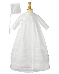Unisex Cotton Sateen Christening Gown