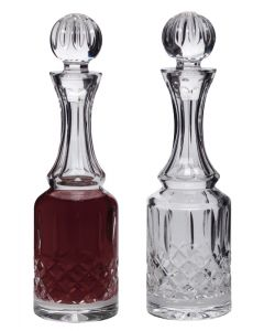 Lead Crystal Cruets Pair 5 oz. bottles, Ht. 8 3/8""