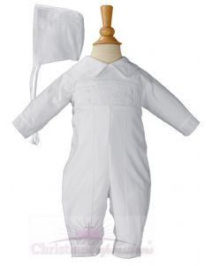 Boys Long Sleeve Cotton Christening Outfit