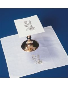 Chalice with Wheat and Communion Host  Mass Linens Set