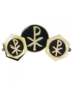 Chi-Rho Cufflinks and Lapel Pin Gift Set