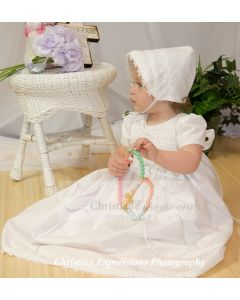 Girls Cotton Christening Gown Style Diana
