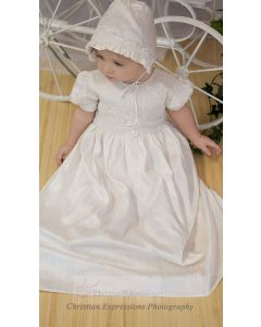 Girls Silk Christening Gown Style Isabel