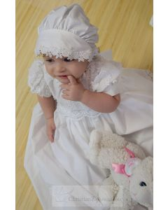 Girls Cotton Christening Gown Style Kayla