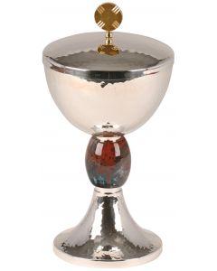Communion Host Ciborium with Hammered Finish