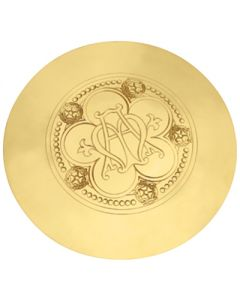 Communion Scale Paten with Ave Maria Emblem