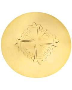 Communion Scale Paten with Engraved Cross Symbol