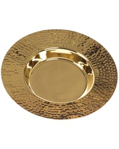 Communion Well Paten with Hammered Finish