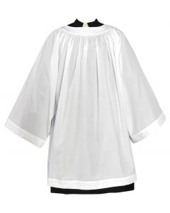 Cotton Blend Clergy Surplice with Round Neckline