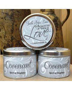 Covenant Scripture Scented Candle Tin