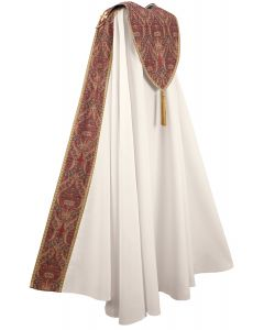 Cream with Red and Gold Tapestry Clergy Cope