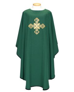 Decorative Alpha Omega Cross Clergy Chasuble