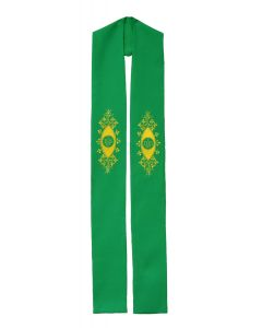 Decorative IHS Clergy Stole or Deacon Stole