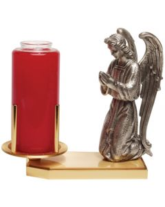 Devotional Candle Holder with Praying Angel