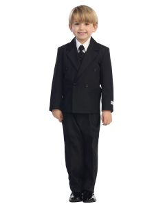 Double Breasted Solid Boys First Communion Suit