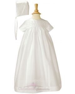 Dupioni Silk Heirloom Christening Gown