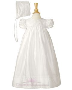 Girls Silk Dupioni Christening gown Style Jillian