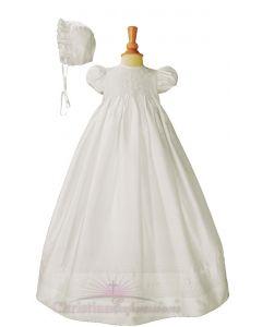 Girls Silk Dupioni Christening gown Style Ava