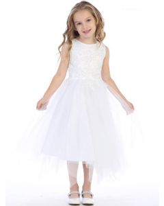 First Communion Dress Embroidered Beaded Appliques