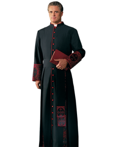 Evangelical Clergy Cassock with Brocade