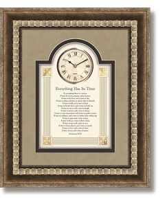 Everything Has Its Time - Ecclesiastes Framed Christian Wall Clock