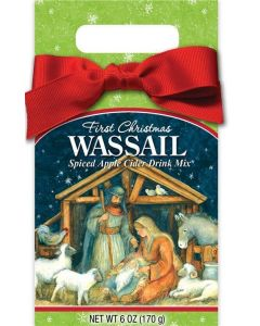 First Christmas Nativity Scene Wassail Spiced Apple Cider Gift Box