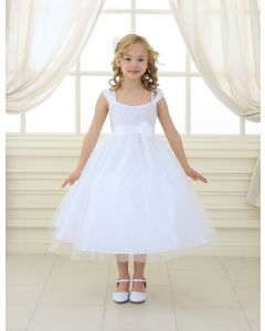 First Communion Dress Ballerina with Gathered Bodice