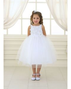 First Communion Dress Tulle Skirt Sequined Bodice