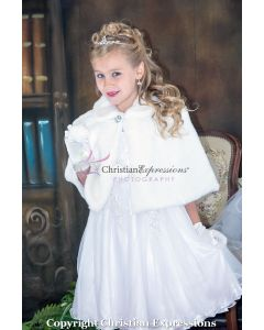 Faux Fur First Communion Cape
