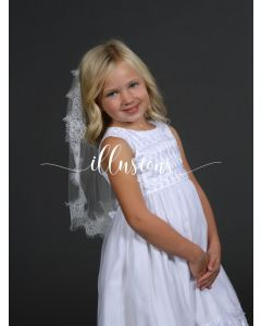 First Communion Lace Veil-3 Sizes Available