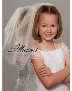 First Communion Veil with Corded Edge-3 Sizes Available